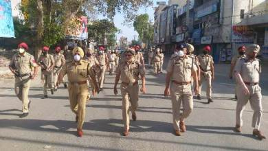Photo of Police conducts flag march in Ferozepur