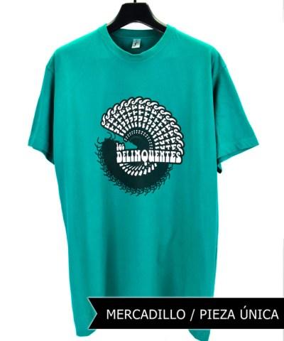 Camiseta-Hombre-Los-Delinquentes-Psicodélica-Verde