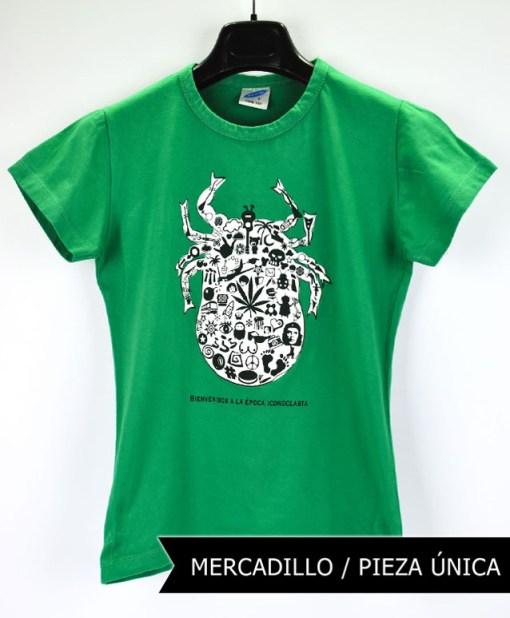 Camiseta-mujer-Los-Delinquentes-Bienvenidos-verde-2T