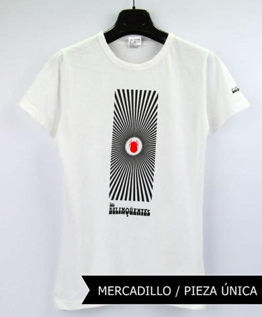 Camiseta-mujer-Los-Delinquentes-Psicodélico-Blanco1