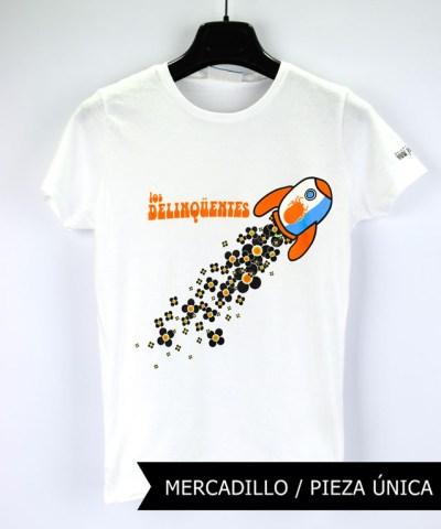 Camiseta-mujer-Los-Delinquentes-Telescopio-Blanca