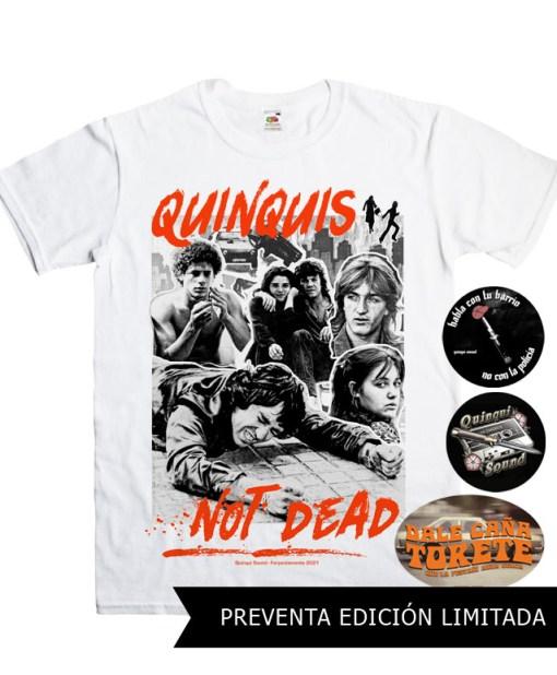 Camiseta-Quinqui-Sound-Quinquis-Not-Dead-Blanca-Preventa