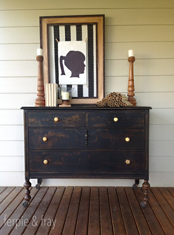 Painted in Chalk Paint Furniture Black