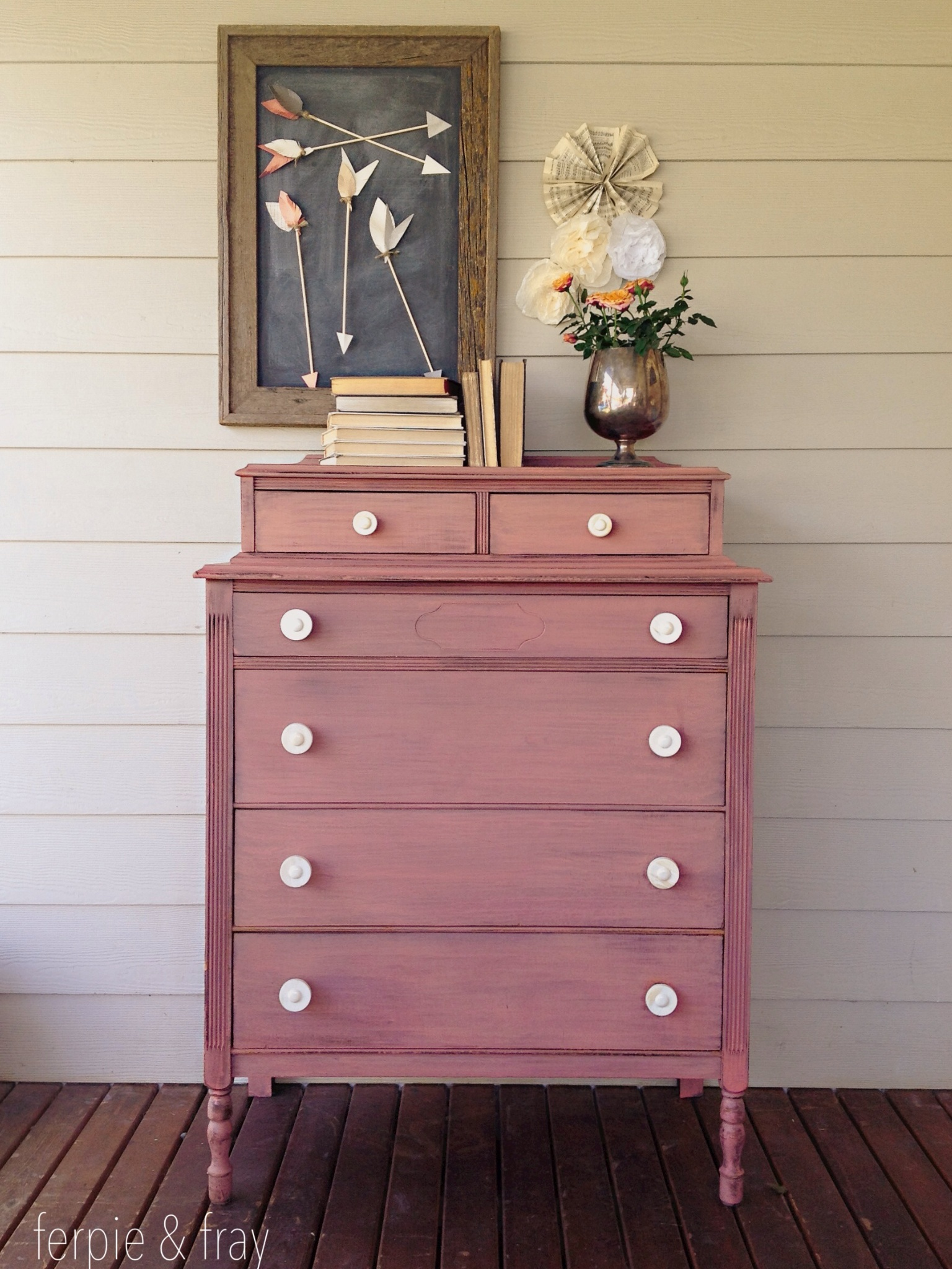1000 images about Pink  Coral Painted Furniture on Pinterest  Pink dresser General finishes