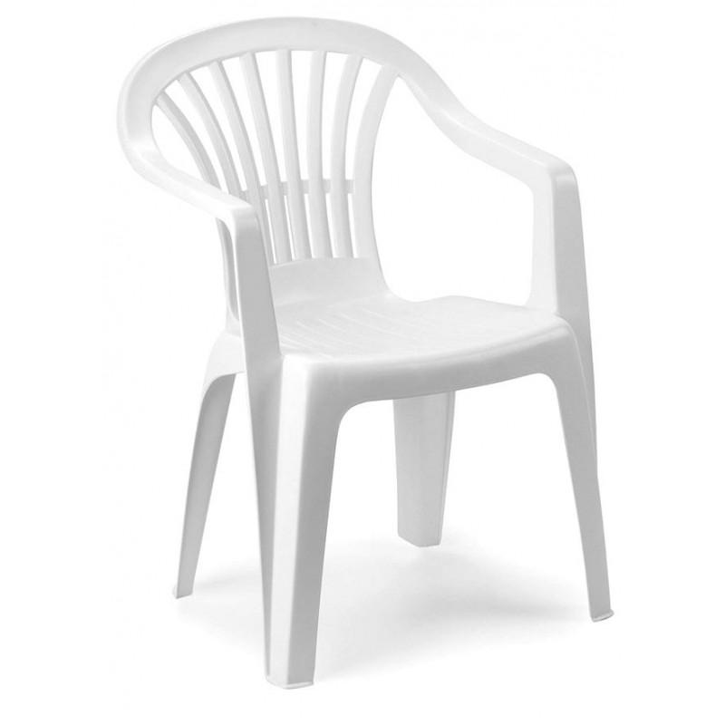 Sedia da giardino plastica Altea schienale basso