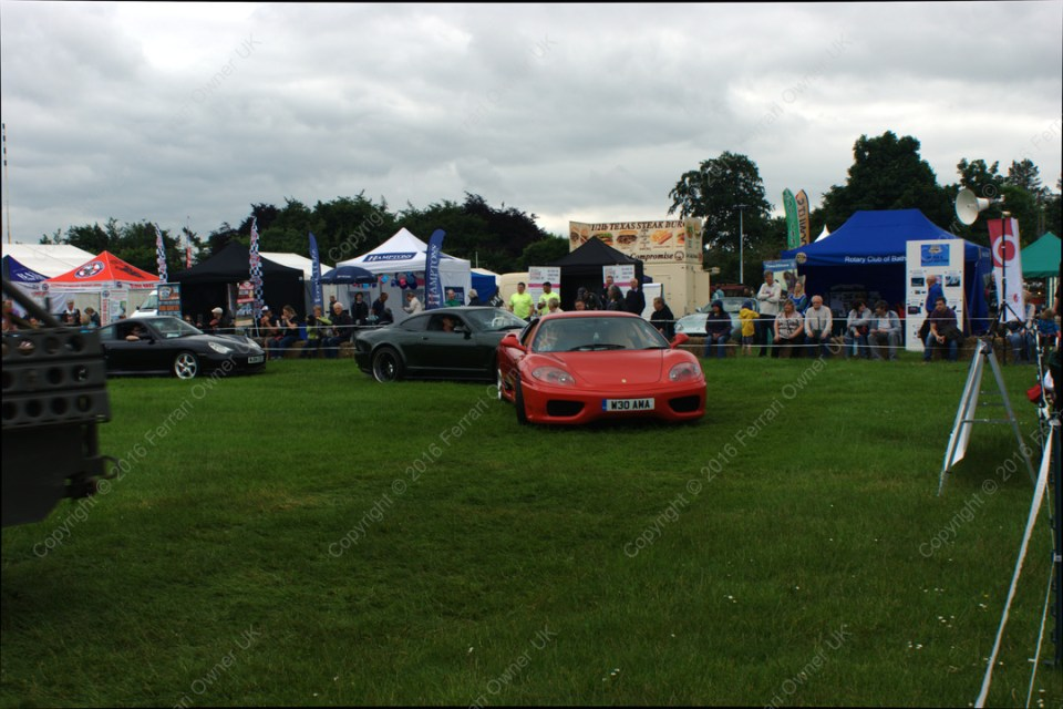 My Ferrari 360 Modena on a display lap of interesting/supercars at the Bath Festival of Motoring