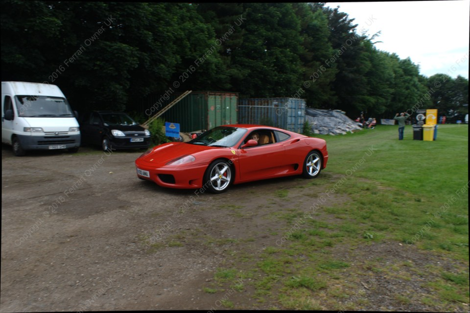Heading out with a passenger, in my Ferrari 360 Modena, at the Bath Festival of Motoring