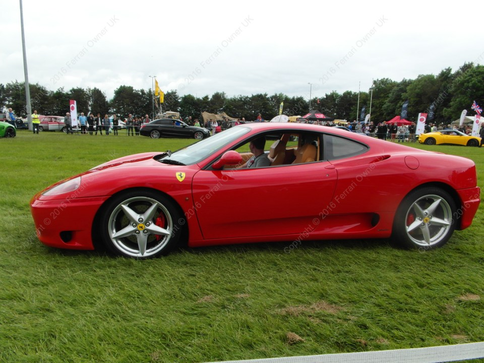 Display lap of honour in my Ferrari 360 Modena, alongside other supercars at the Bath Festival of Motoring