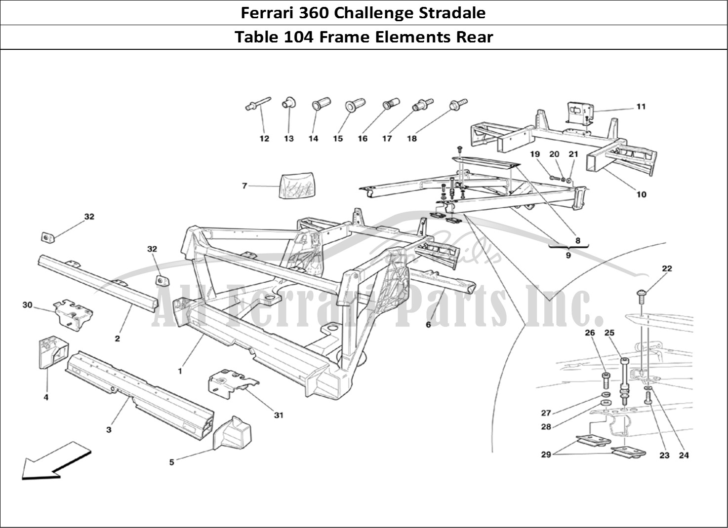 Buy original Ferrari 360 Challenge Stradale 104 Frame