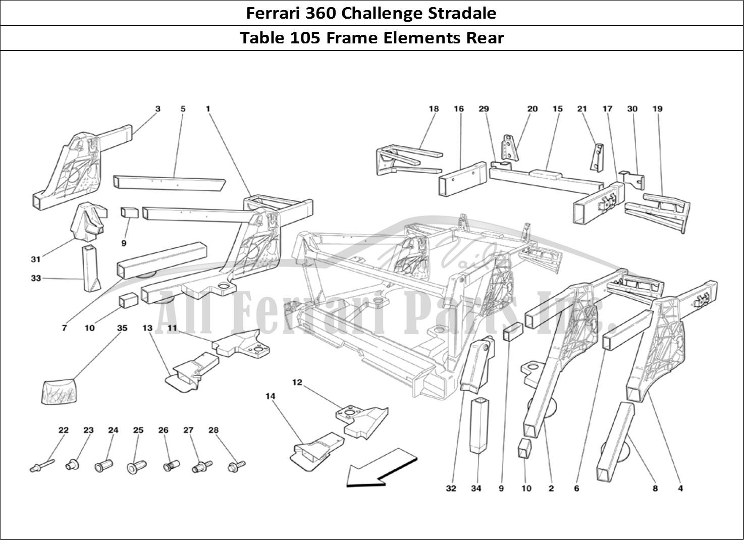 Buy original Ferrari 360 Challenge Stradale 105 Frame
