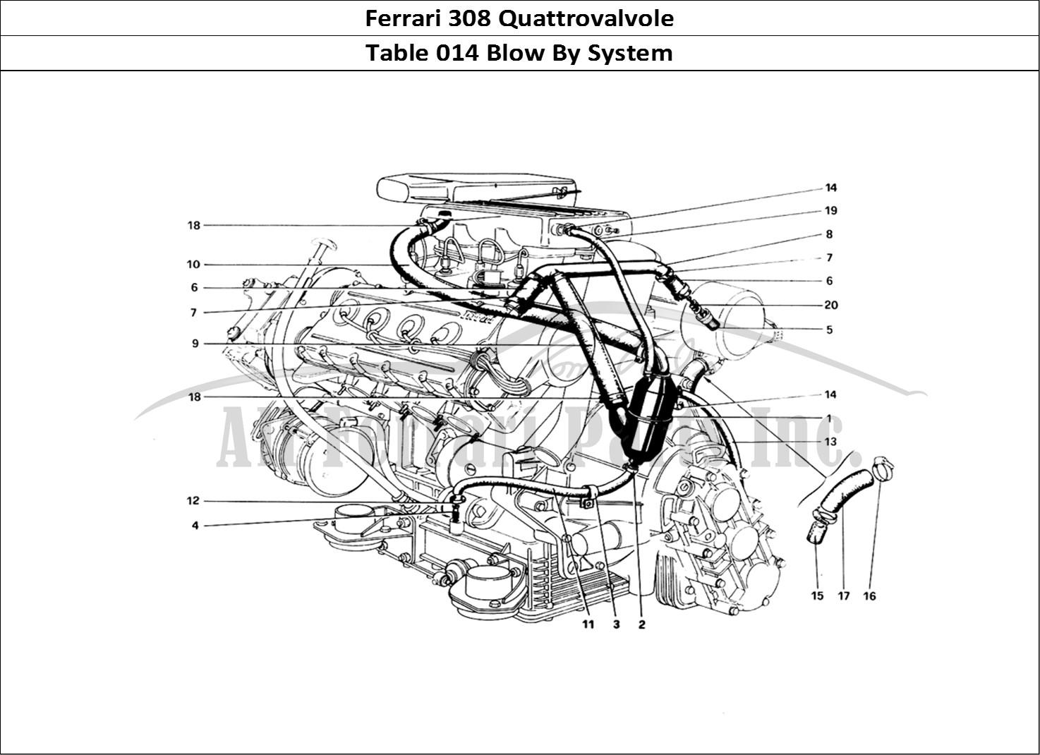 Buy original Ferrari 308 Quattrovalvole 014 Blow By System