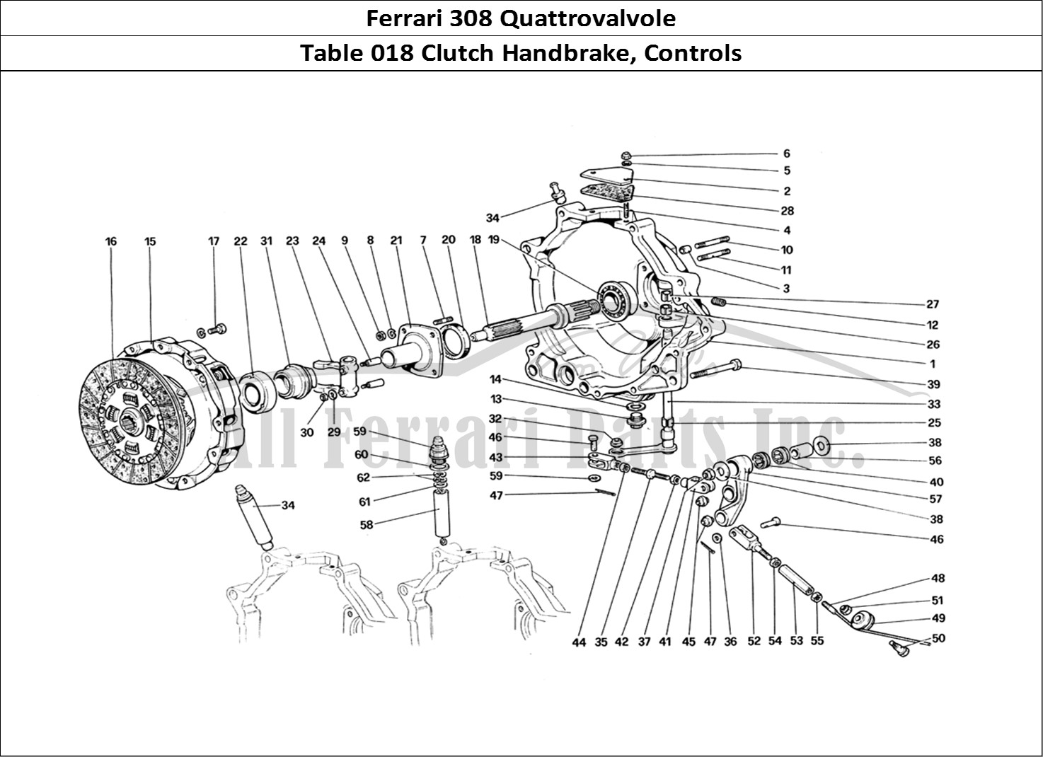 Buy original Ferrari 308 Quattrovalvole 018 Clutch
