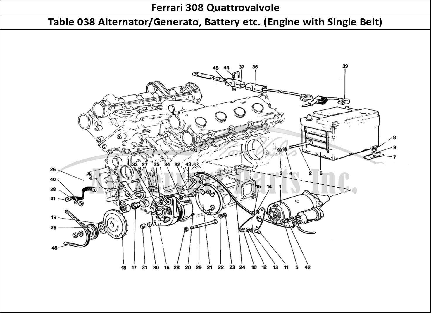 Buy original Ferrari 308 Quattrovalvole 038 Alternator