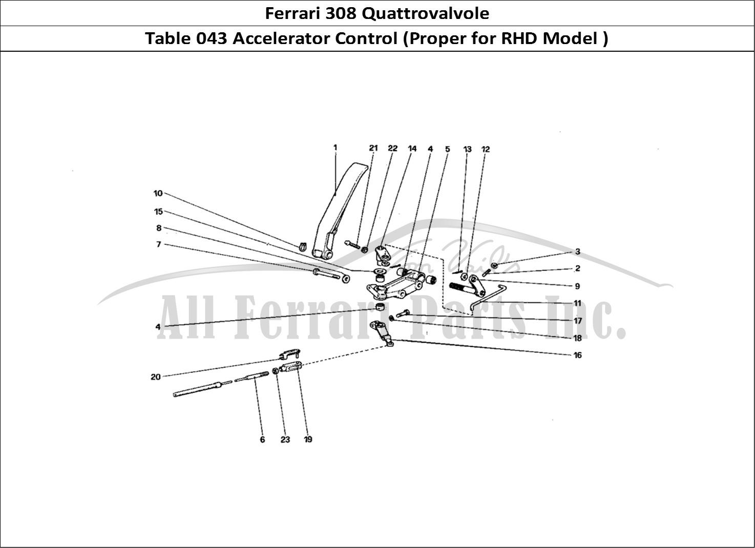 Buy original Ferrari 308 Quattrovalvole 043 Accelerator