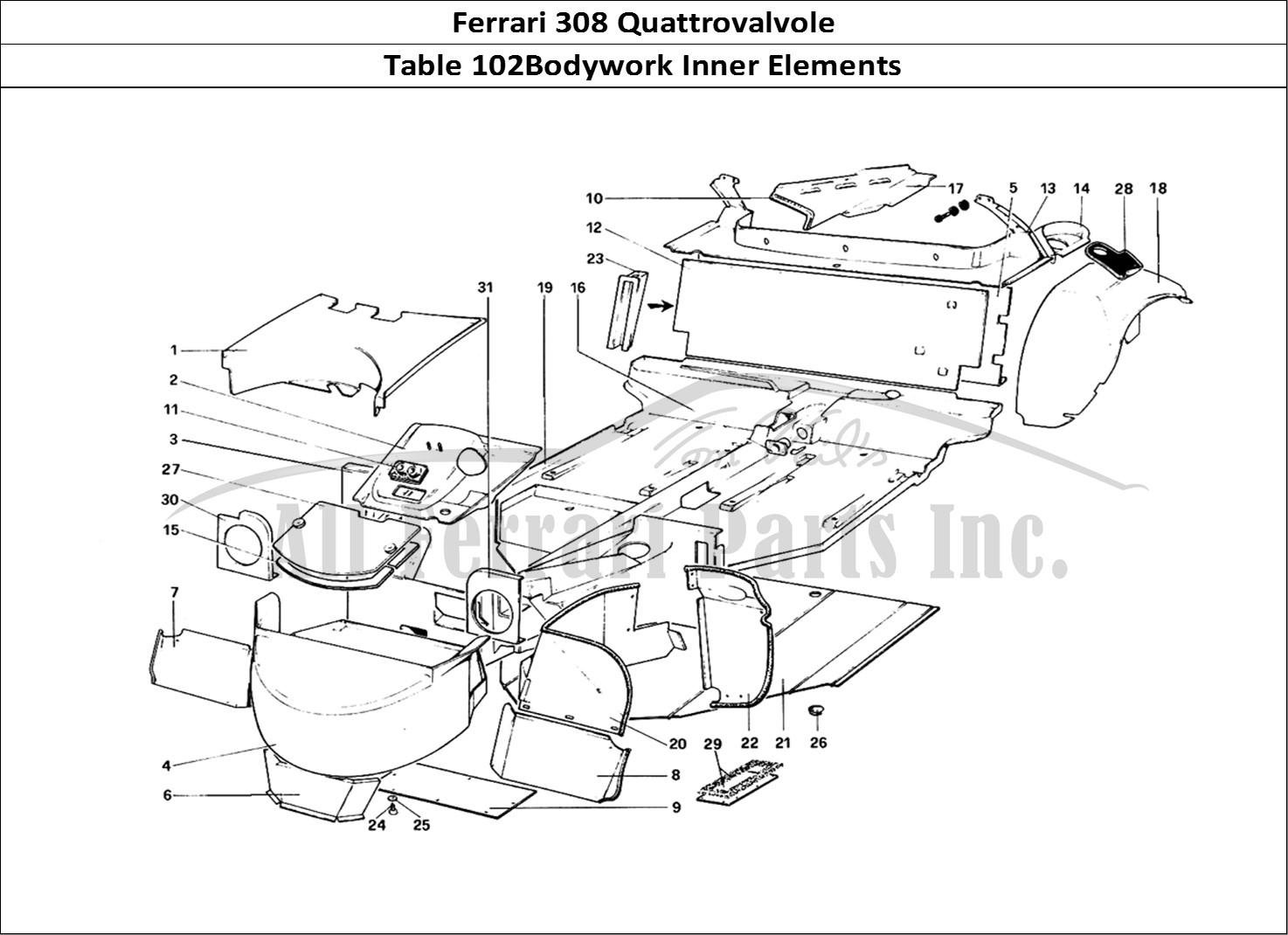 Buy original Ferrari 308 Quattrovalvole 102Bodywork Inner