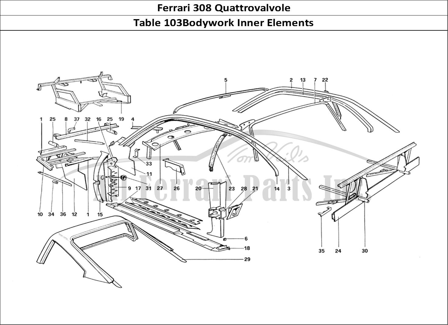 Buy original Ferrari 308 Quattrovalvole 103Bodywork Inner
