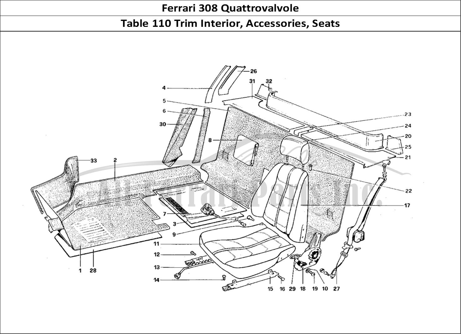 Buy original Ferrari 308 Quattrovalvole 110 Trim Interior