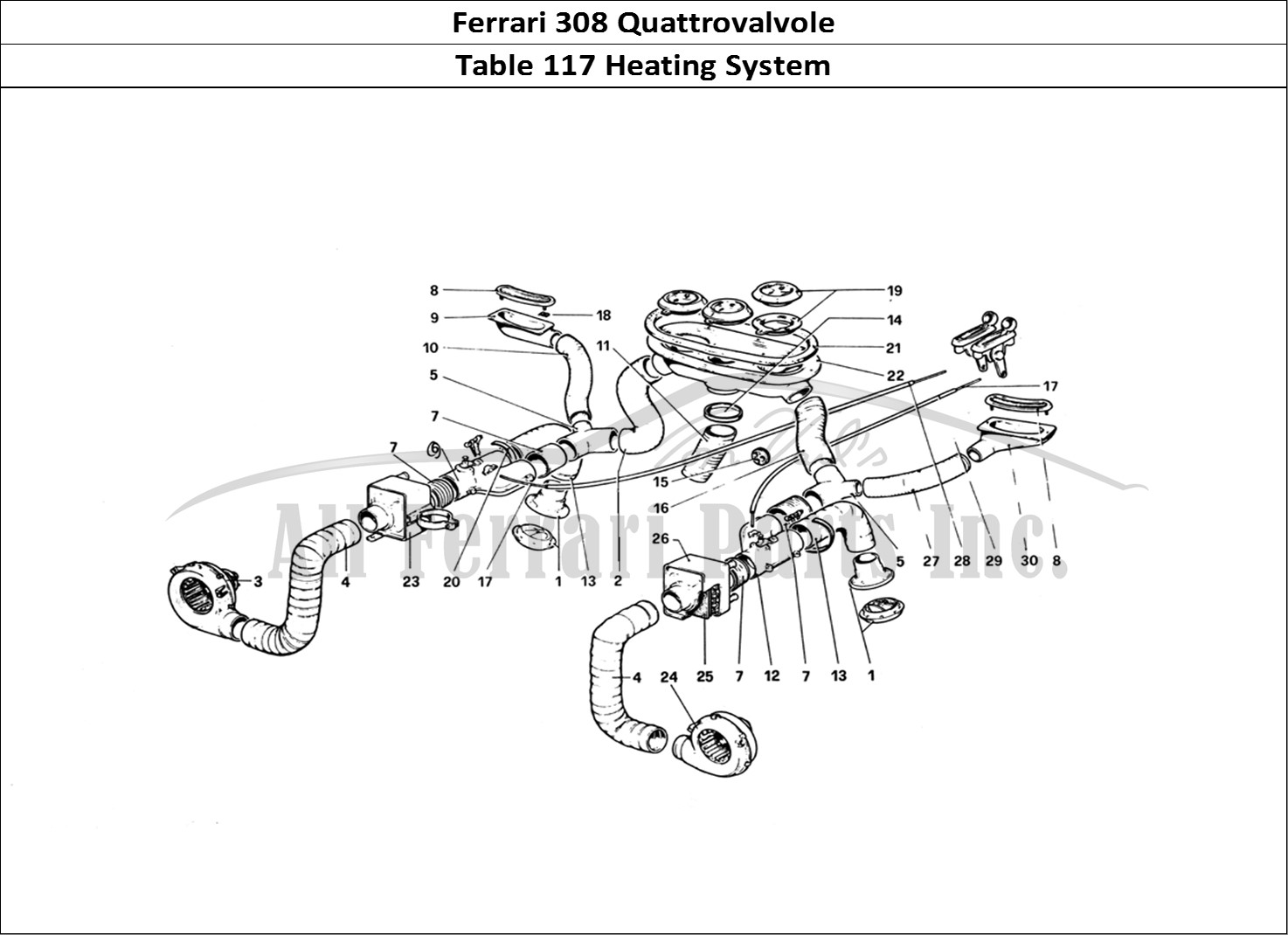 Buy original Ferrari 308 Quattrovalvole 117 Heating System