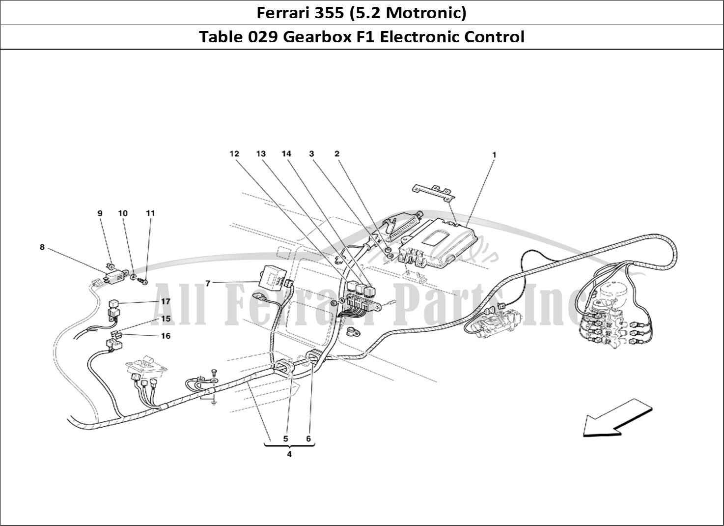 Buy original Ferrari 355 (5.2 Motronic) 029 Gearbox F1