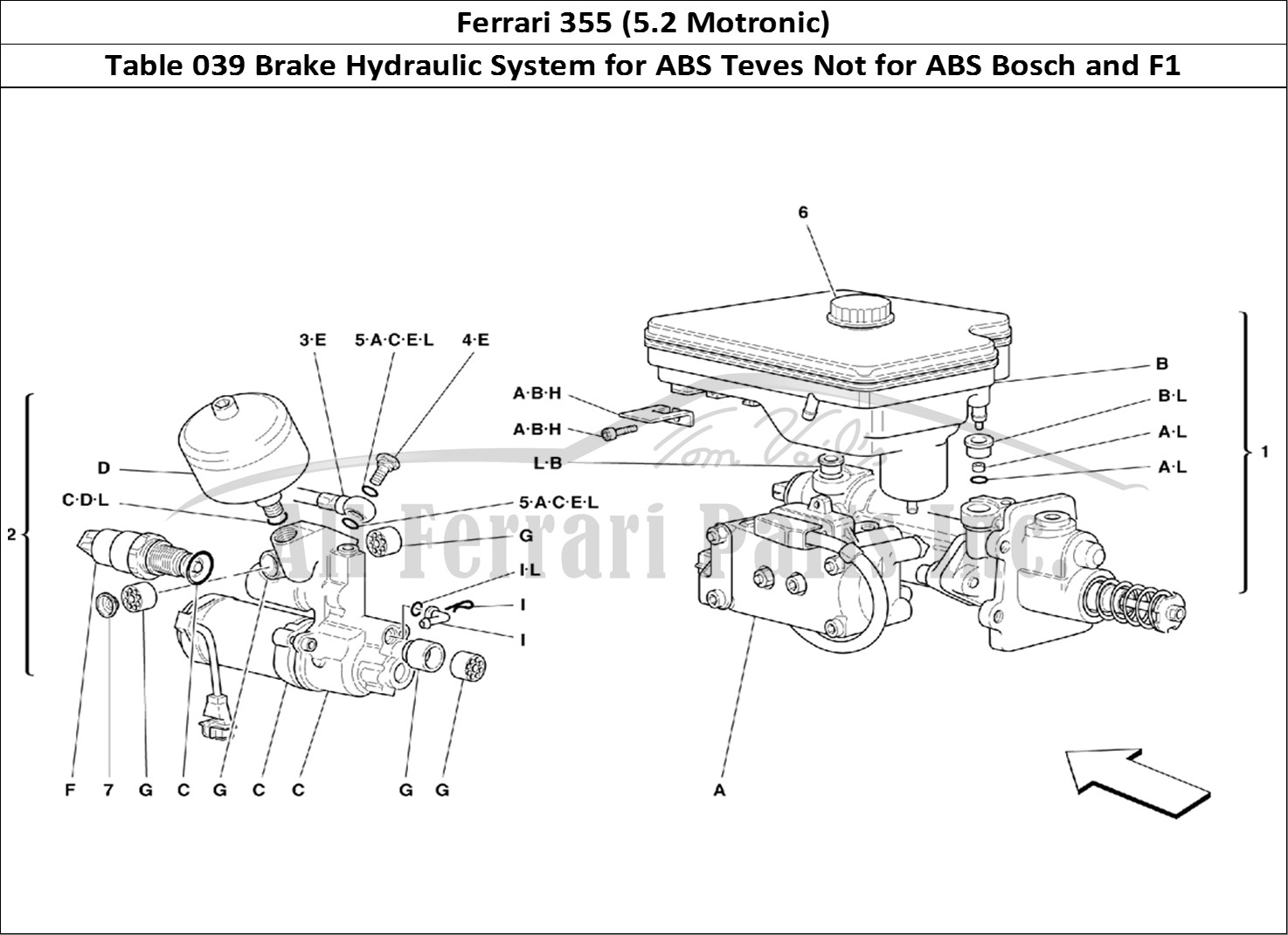 Buy original Ferrari 355 (5.2 Motronic) 039 Brake