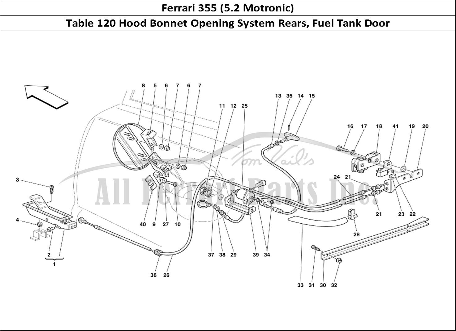 Buy original Ferrari 355 (5.2 Motronic) 120 Hood Bonnet