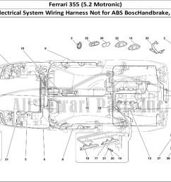 ferrari 355 5 2 motronic bodywork table 139 electrical system wiring harness not for abs boschandbrake 355 f1 cars [ 1474 x 1070 Pixel ]