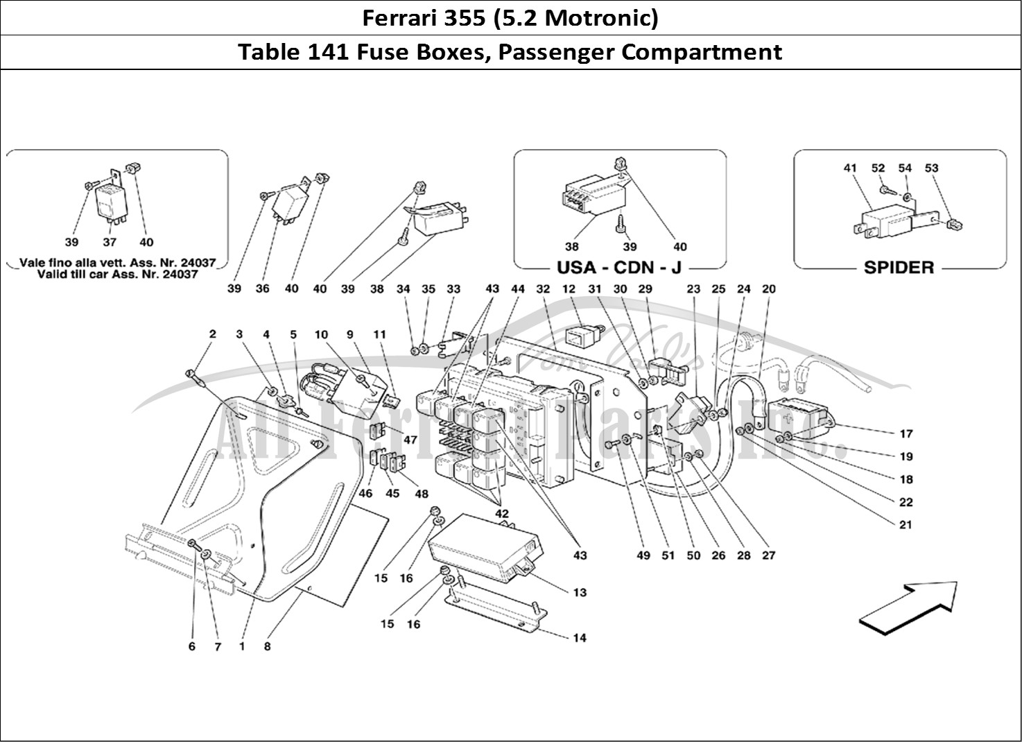 Ferrari Parts Diagram