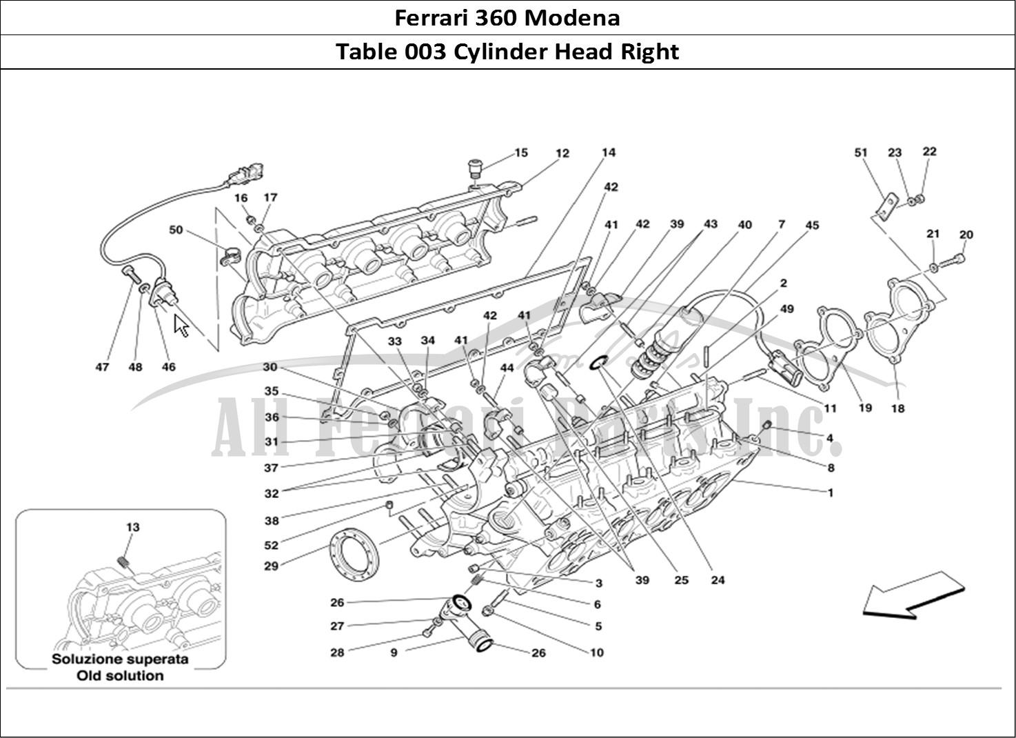 Buy original Ferrari 360 Modena 003 Cylinder Head Right