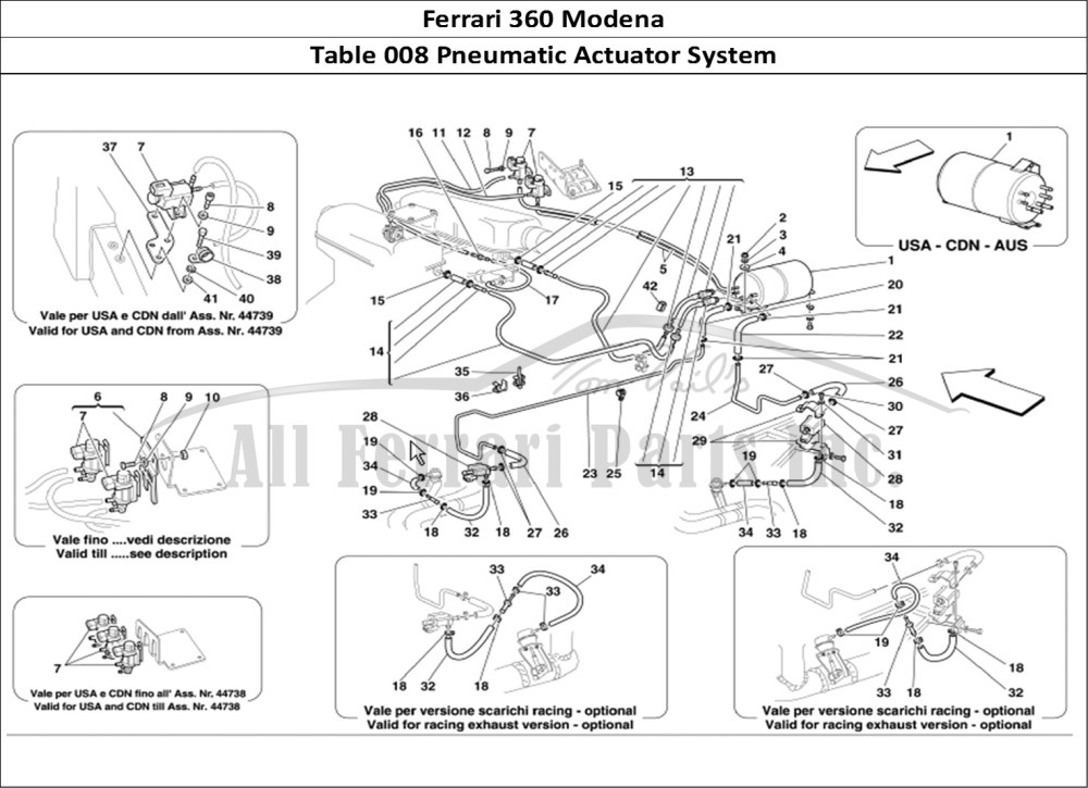 medium resolution of ferrari 360 modena mechanical table 008 pneumatic actuator system