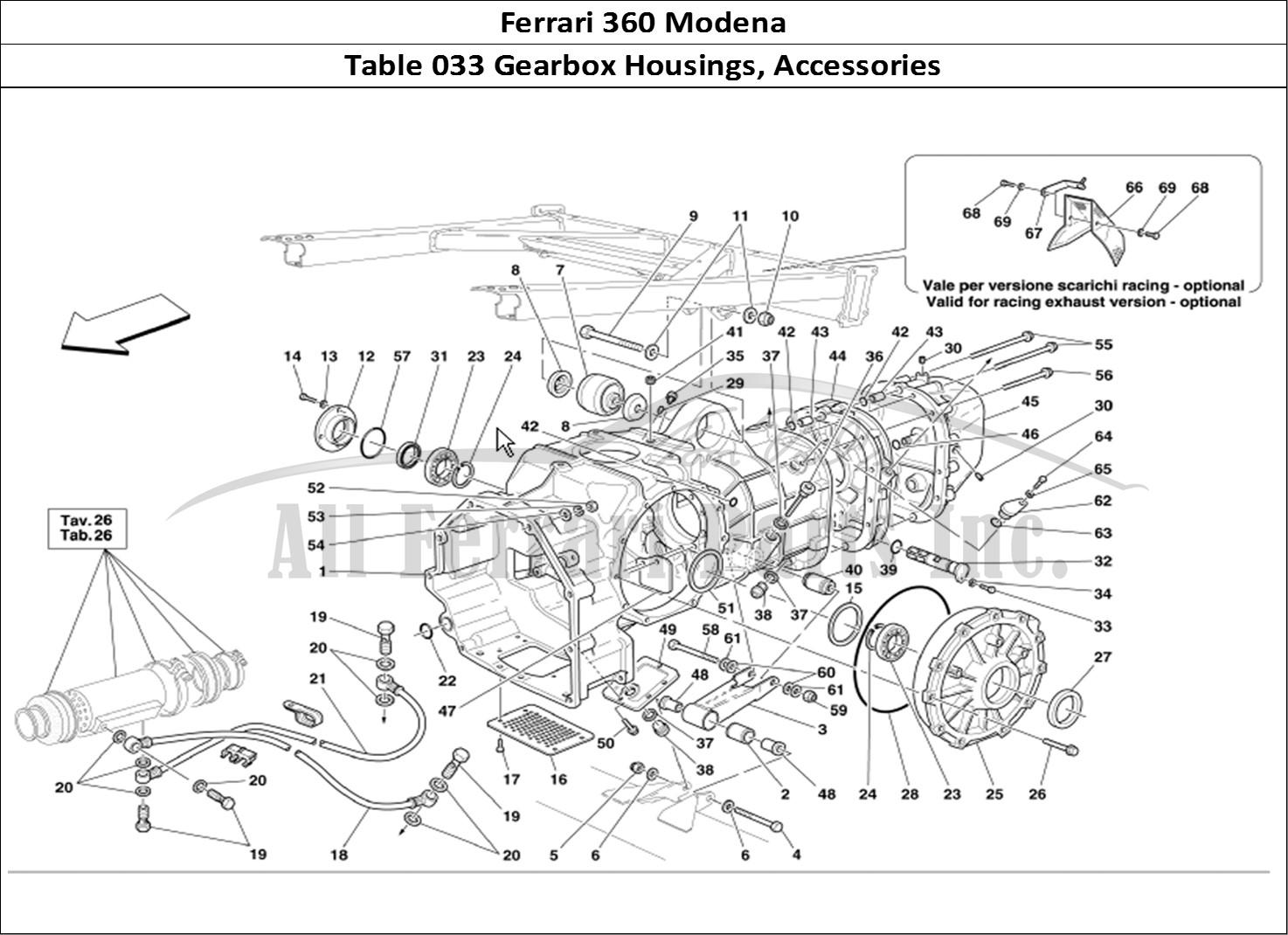 Buy original Ferrari 360 Modena 033 Gearbox Housings
