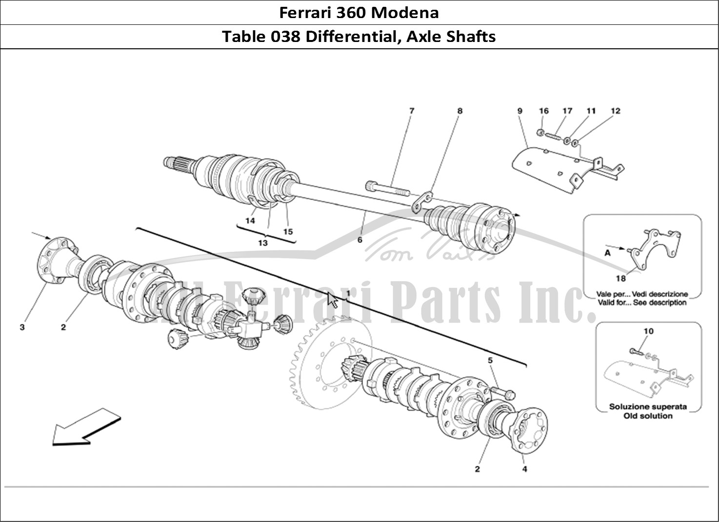 Buy original Ferrari 360 Modena 038 Differential, Axle