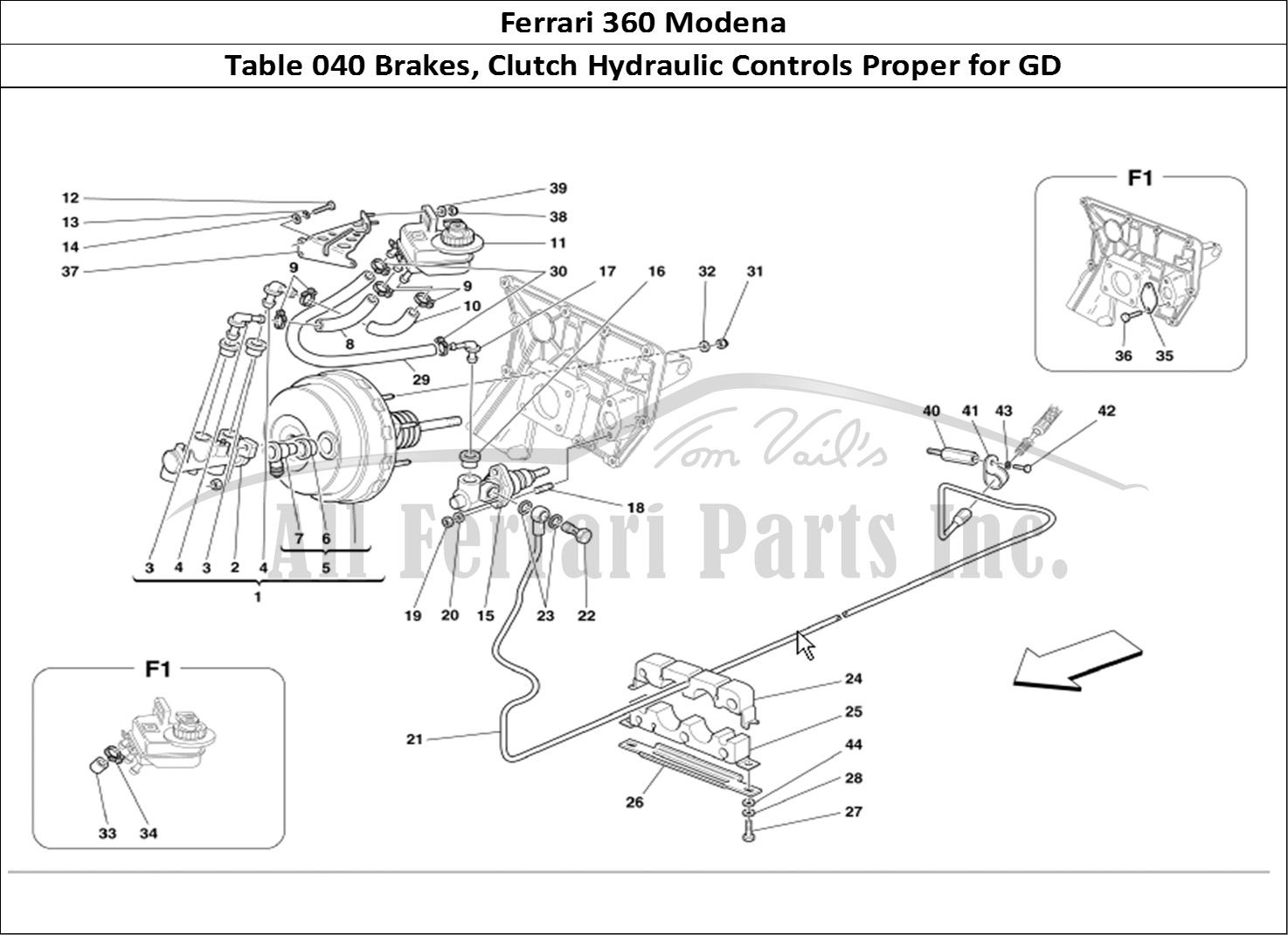 Buy original Ferrari 360 Modena 040 Brakes, Clutch