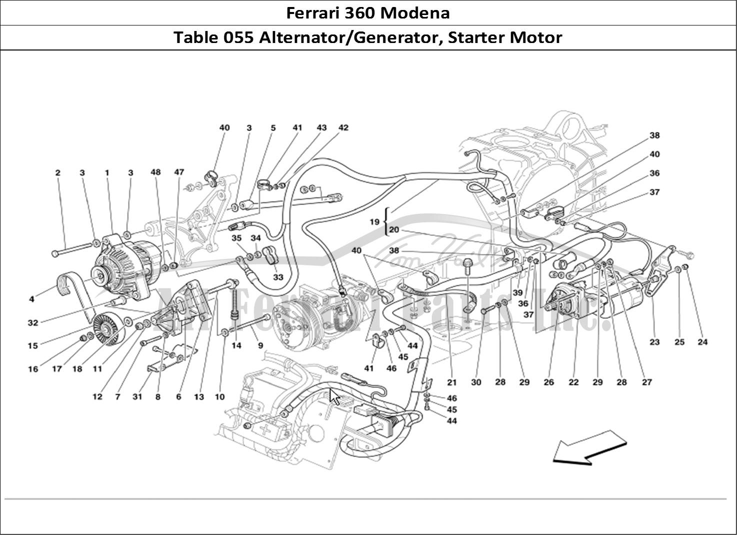 Buy original Ferrari 360 Modena 055 Alternator/Generator