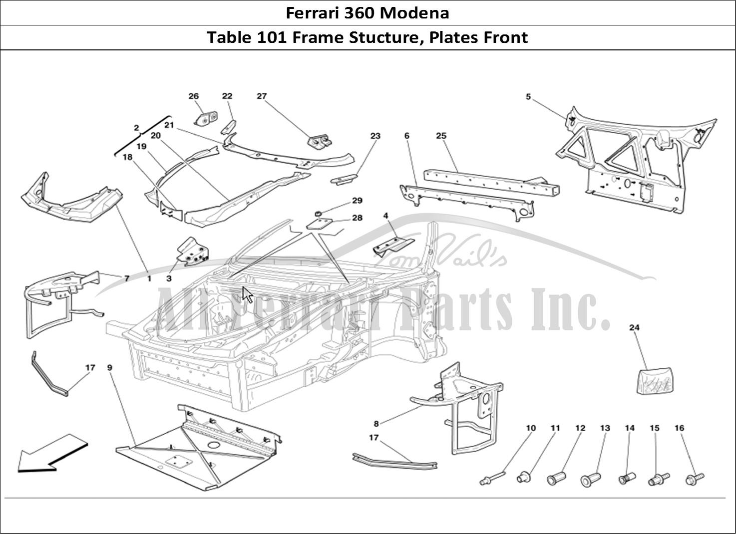 Buy original Ferrari 360 Modena 101 Frame Stucture, Plates