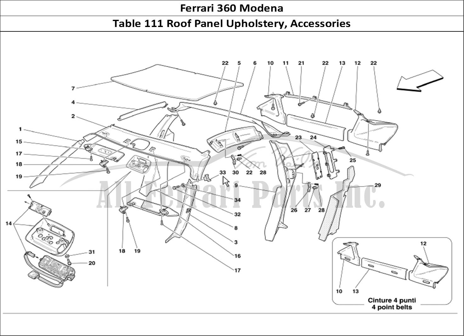 Buy original Ferrari 360 Modena 111 Roof Panel Upholstery
