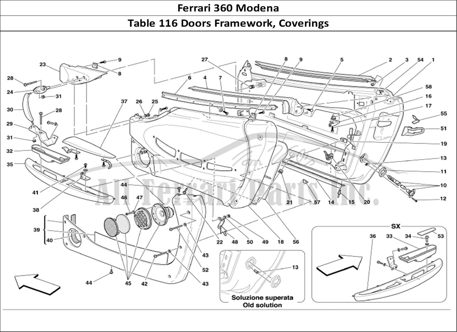 Buy original Ferrari 360 Modena 116 Doors Framework