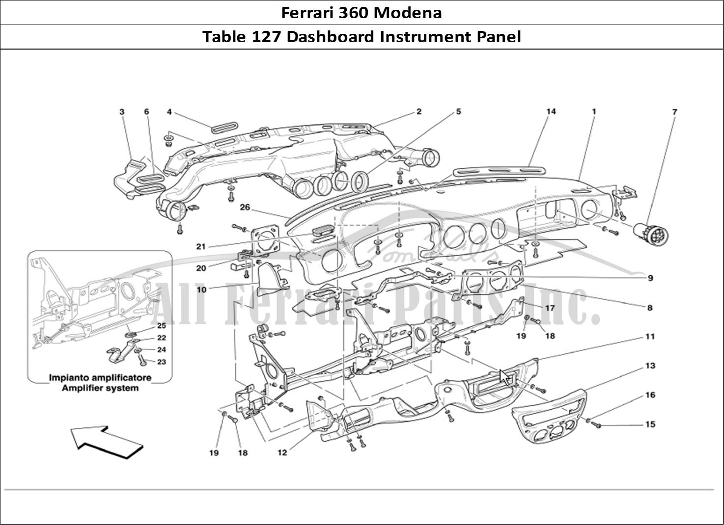 Buy original Ferrari 360 Modena 127 Dashboard Instrument