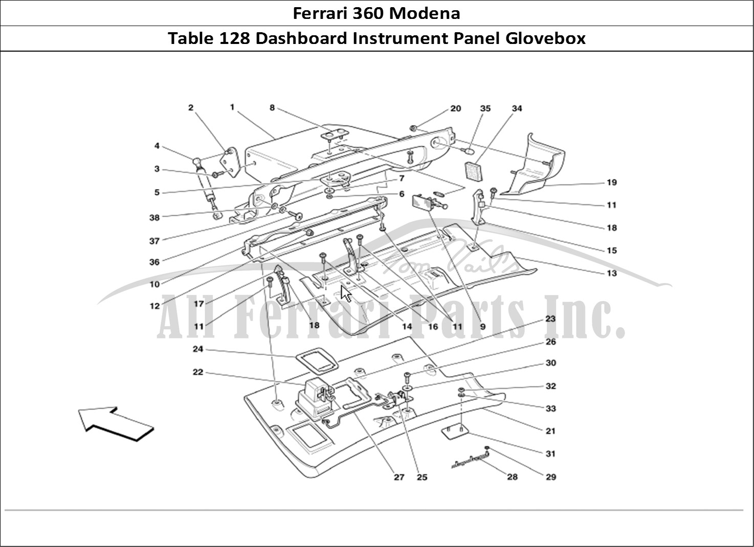 Buy original Ferrari 360 Modena 128 Dashboard Instrument