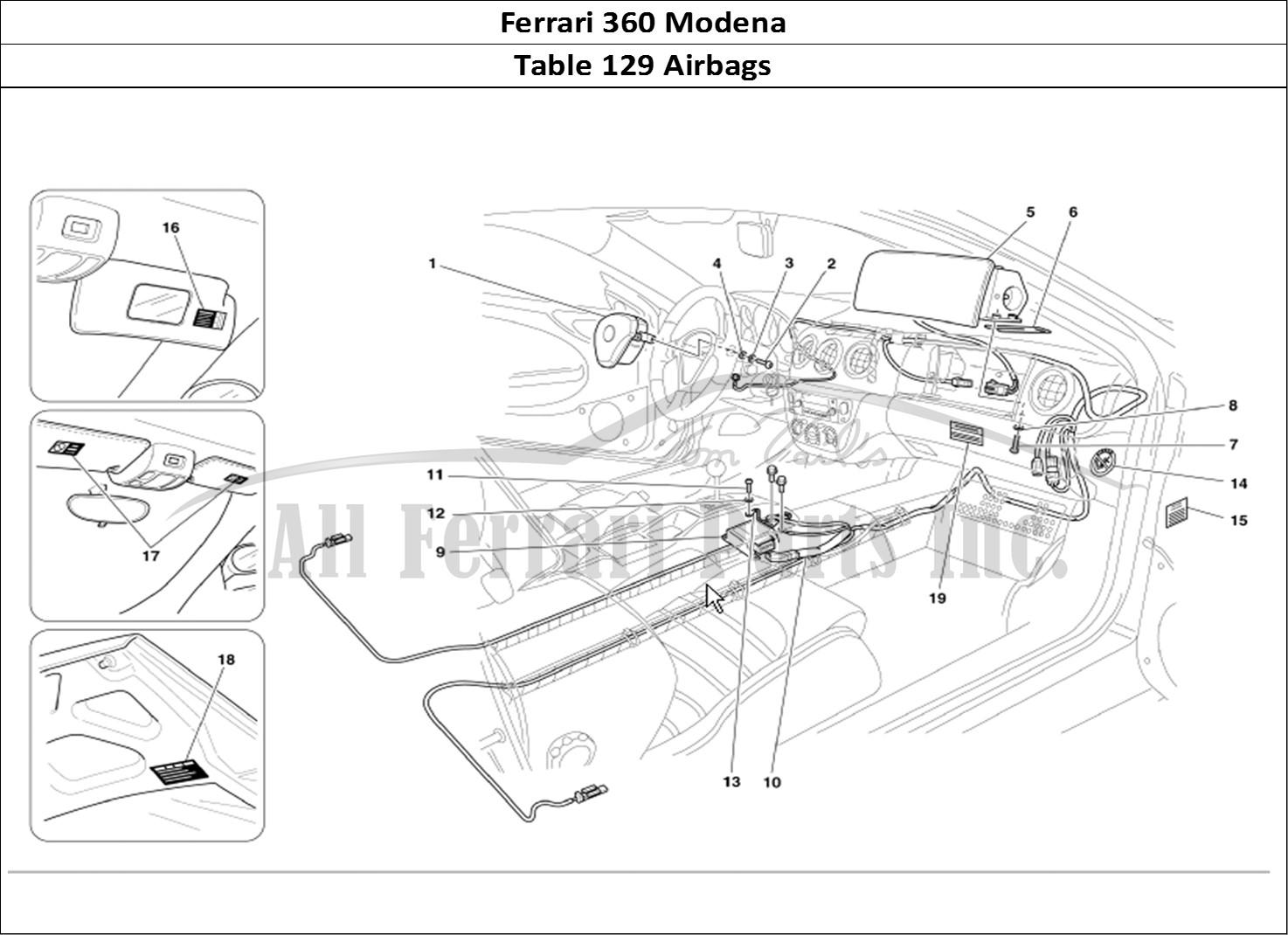 Buy original Ferrari 360 Modena 129 Airbags Ferrari parts