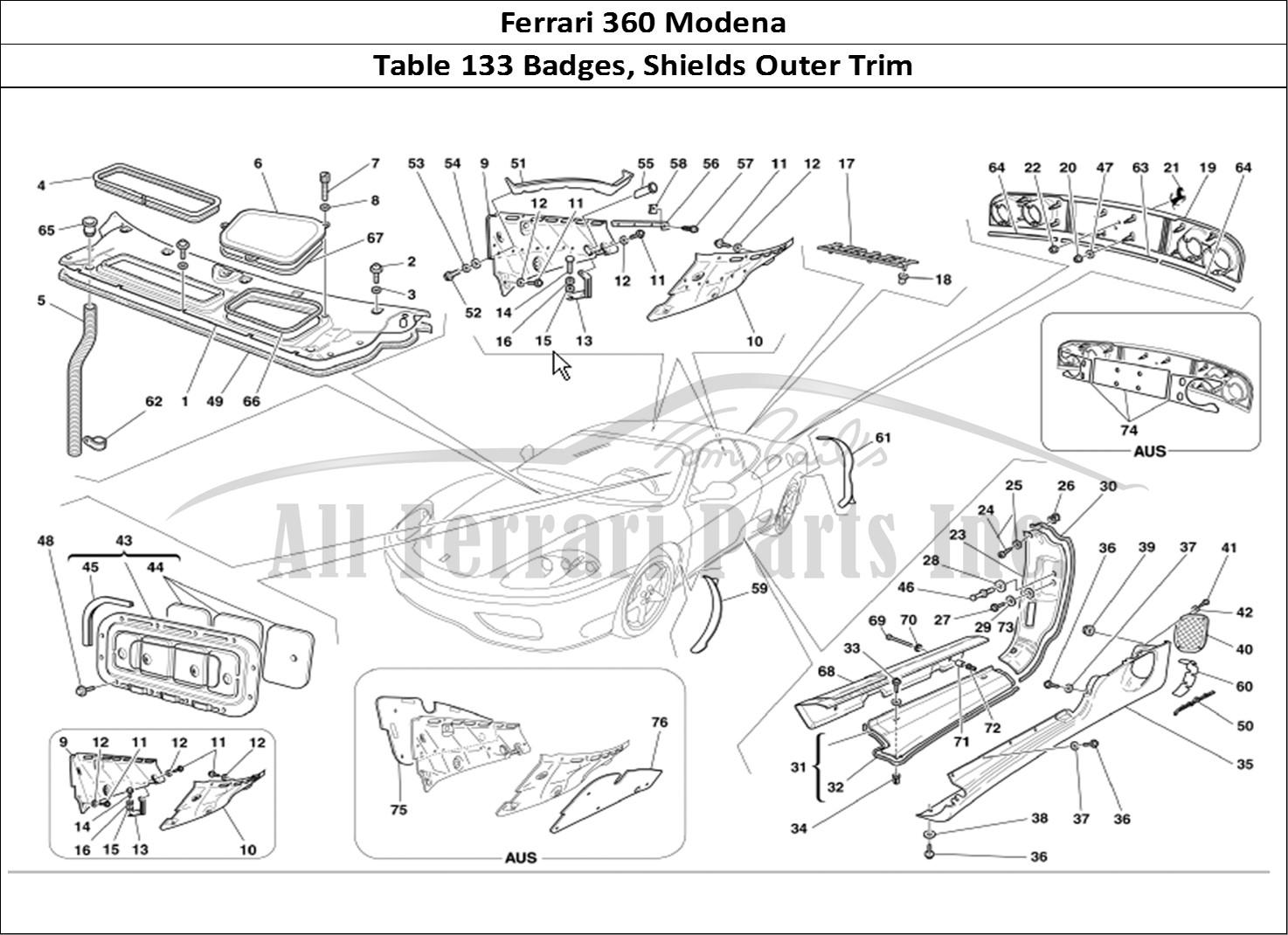 Buy original Ferrari 360 Modena 133 Badges, Shields Outer