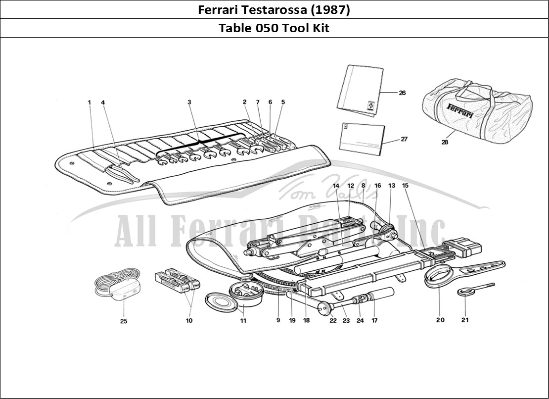 Buy original Ferrari Testarossa (1987) 050 Tool Kit