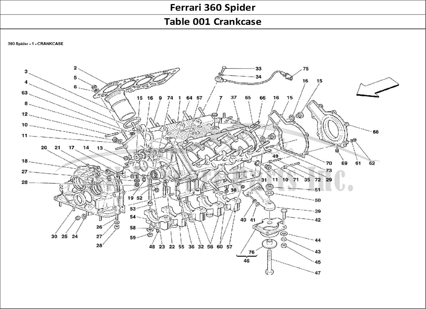Buy Original Ferrari 360 Spider 001 Crankcase Ferrari Parts Spares Accessories Online
