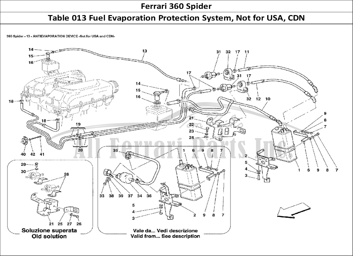 Buy original Ferrari 360 Spider 013 Fuel Evaporation
