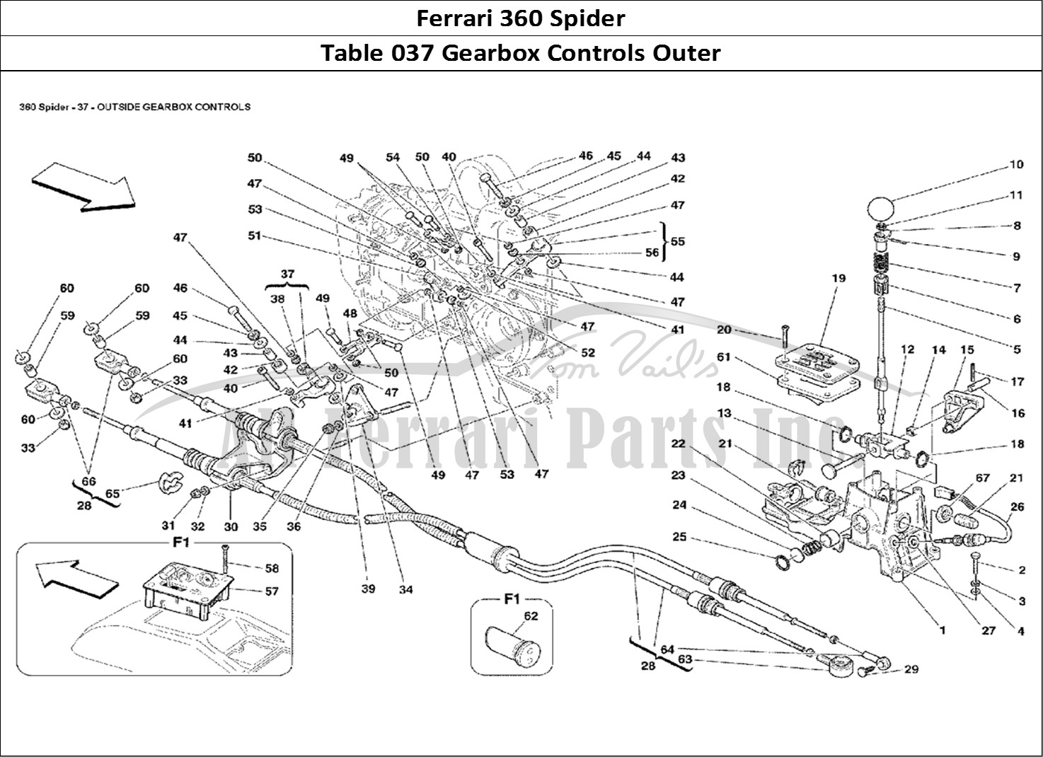 Buy original Ferrari 360 Spider 037 Gearbox Controls Outer