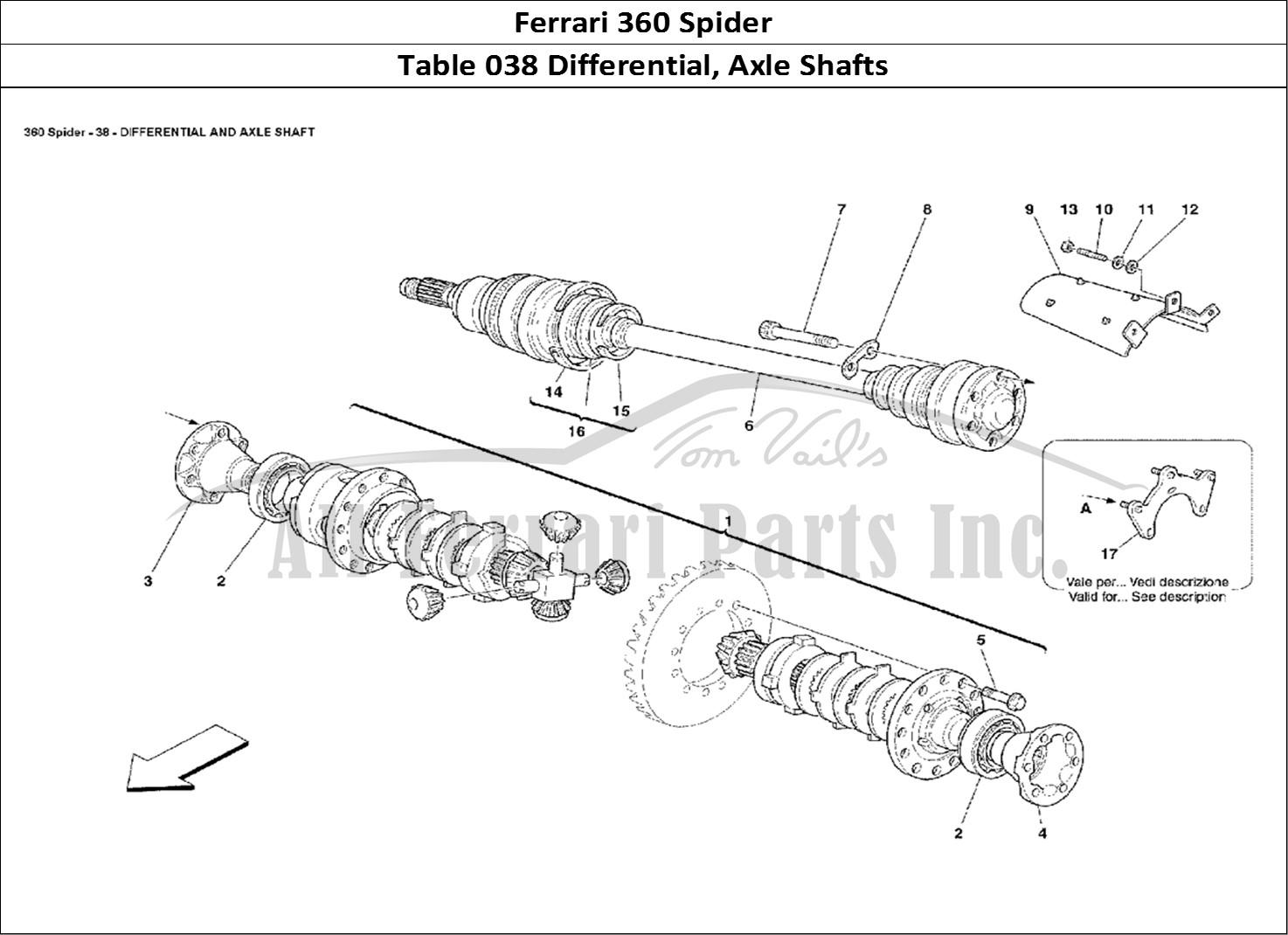 Buy original Ferrari 360 Spider 038 Differential, Axle