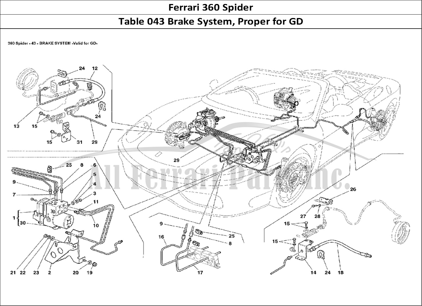 Buy original Ferrari 360 Spider 043 Brake System, Proper