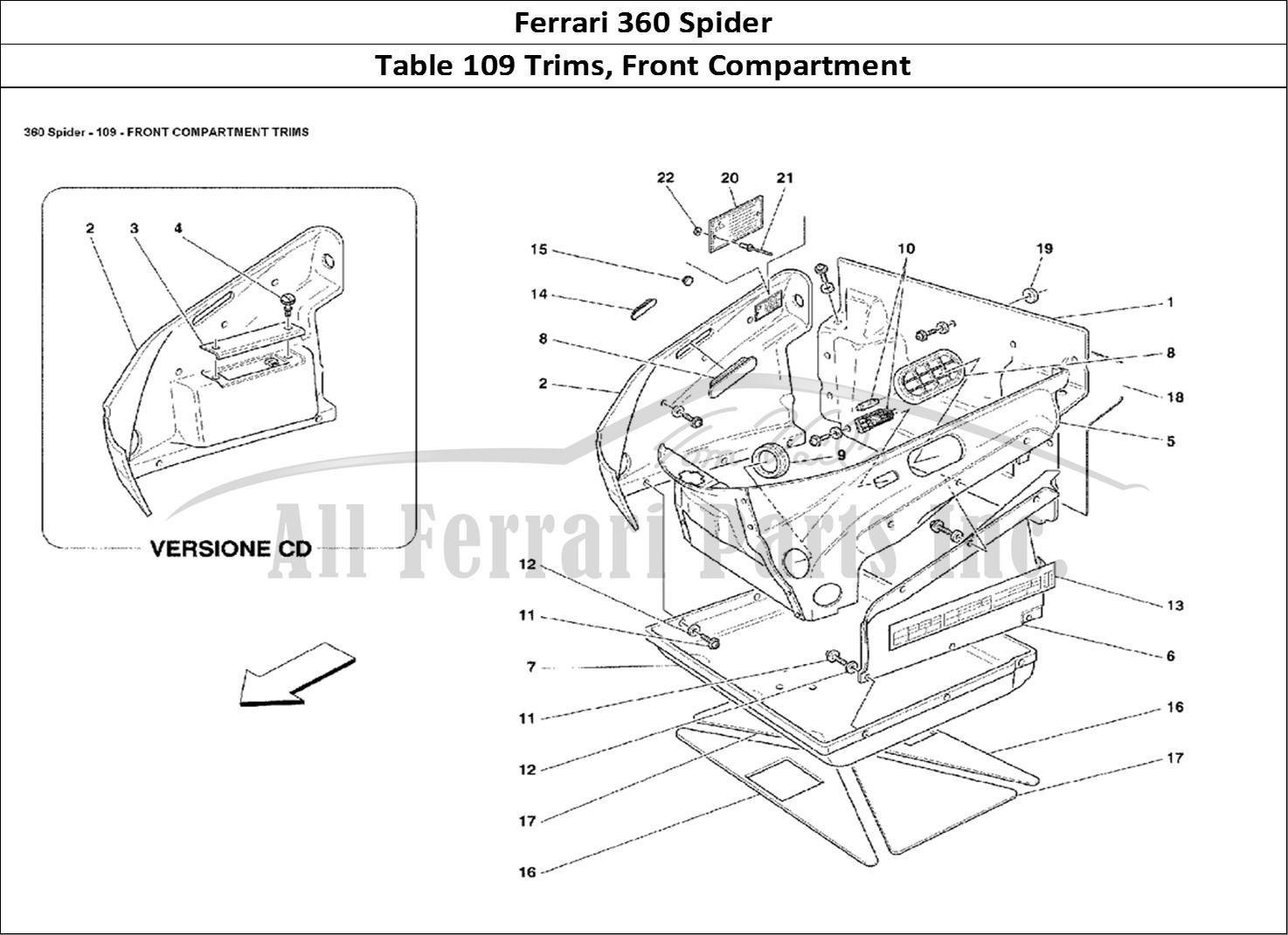 Buy original Ferrari 360 Spider 109 Trims, Front