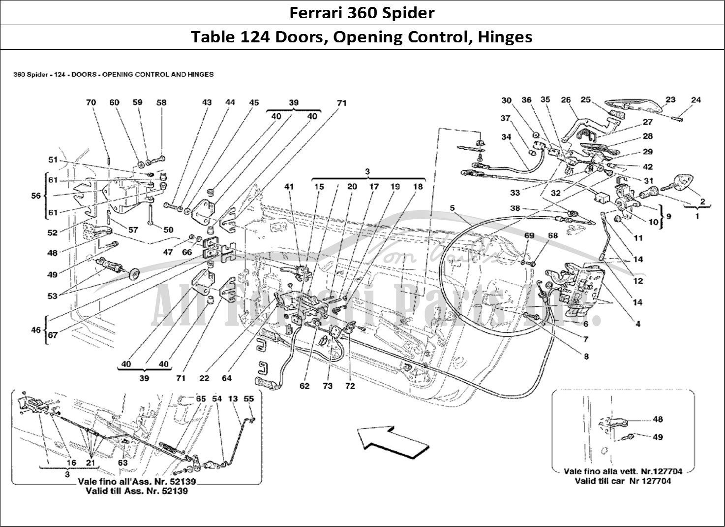 Buy original Ferrari 360 Spider 124 Doors, Opening Control
