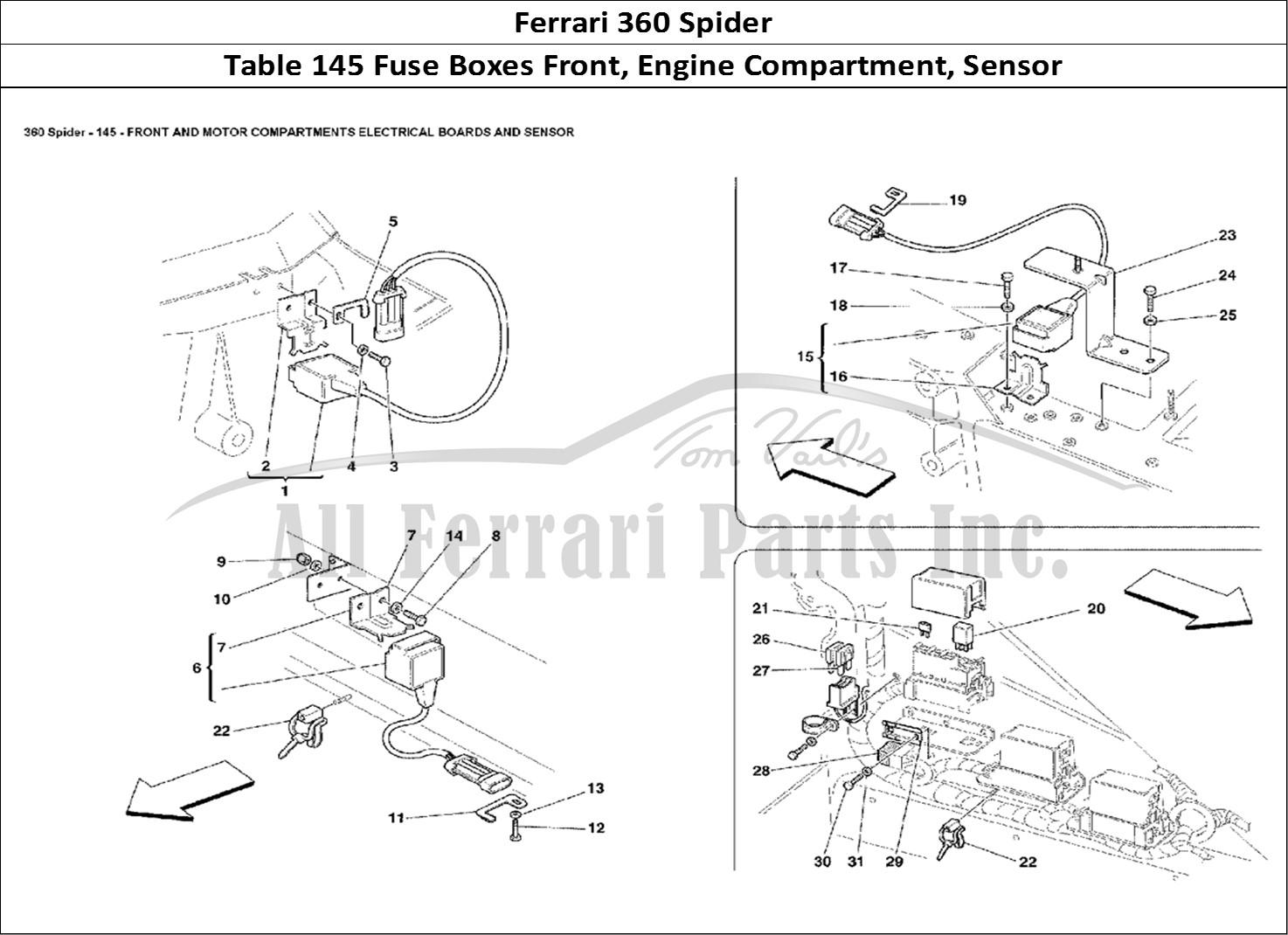 Buy original Ferrari 360 Spider 145 Fuse Boxes Front