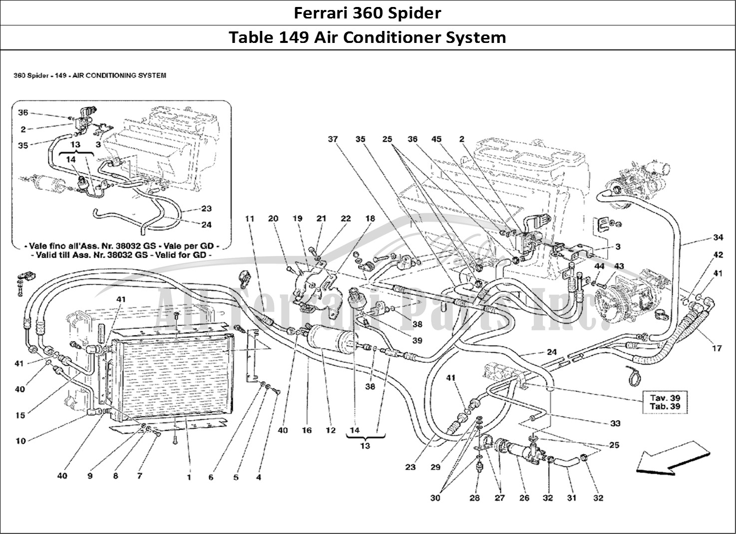 Buy original Ferrari 360 Spider 149 Air Conditioner System